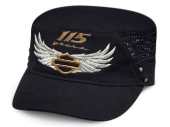 Cap, 115th Anniversary Mesh Flat Top , Harley-Davidson, Schwarz
