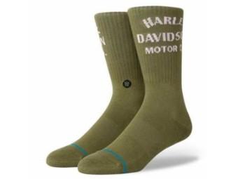Socken, Motor, Harley-Davidson, Olive