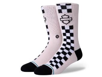 Socken, Side Check, Harley-Davidson, Pink