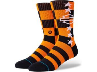 Socken, Side Checkered, Harley-Davidson, Orange