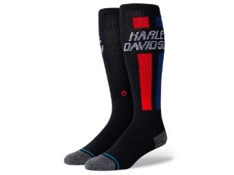 Socken, Vertical OTC, Harley-Davidson, Schwarz