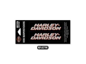 Bumbersticker, Ultra Mini, Reflektiv, Harley-Davidson