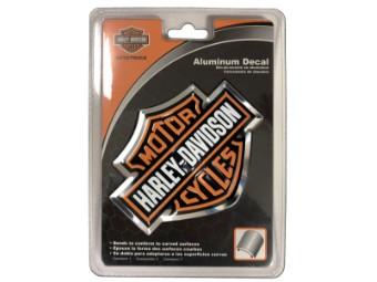 Aufkleber, Bar & Shield, Aluminium, Harley-Davidson