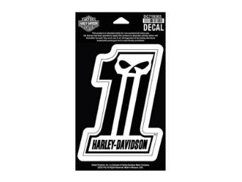 Aufkleber, #1 Skull, Harley-Davidson