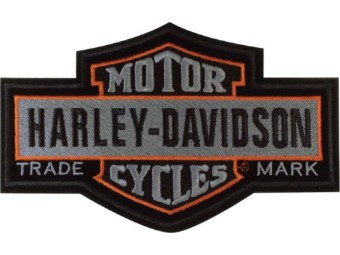 Aufnäher, Nostalgic Bar & Shield, Groß, Harley-Davidson, Grau