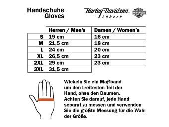 Handschuhe, Leder, Watt, Harley-Davidson, Schwarz