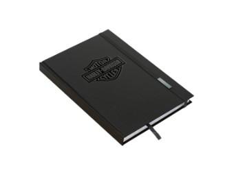 Notizbuch, Bar & Shield, Harley-Davidson, Schwarz