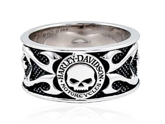 Ring, Skull & Tribal Flame, Harley-Davidson