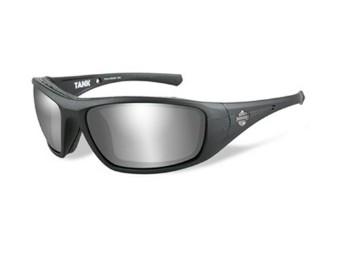 Sonnnenbrille, Tank, Harley-Davidson, PPZ Grey Silver Flash, Matte Black Frame