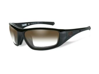 Sonnenbrille, Tank, Harley-Davidson, LA Brown, Gloss Black Frame