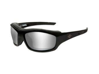 Sonnenbrille, Tunnel, Harley-Davidson, Grey Silver Flash, Gloss Black Frame