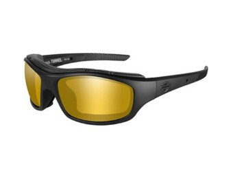 Sonnenbrille, Tunnel, Harley-Davidson, PPZ Amber Gold Mirror, Matte Black Frame