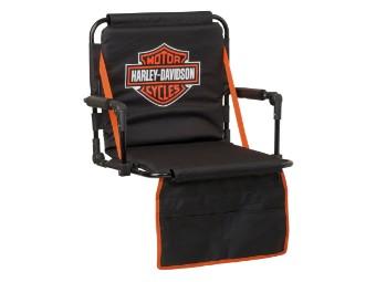 Stadionsitz, Bar & Shield, Harley-Davidson, Schwarz/Orange