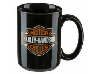 Becher, Bar & Shield, Harley-Davidson, ca. 450 ml, Schwarz