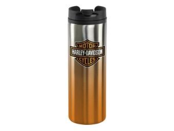 Thermobecher, Bar & Shield, Harley-Davidson, Silber/Orange