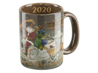 Becher, Winter 2020, Biker Santa, ca. 440 ml, Harley-Davidson, Braun