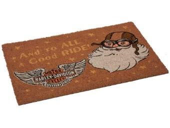 Fußmatte, Weihnachtsmann-Motiv, Türvorleger, 76,2 x 45,7 cm, Harley-Davidson