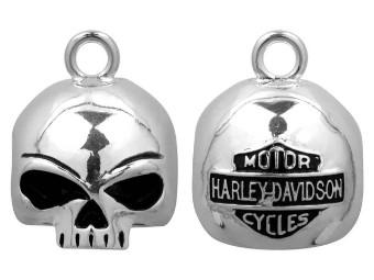 Ride Bell, Willie G. Skull, Rund, Harley-Davidson, Silber