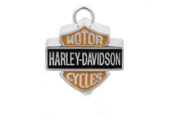 Ride Bell, Bar & Shield, Harley-Davidson, Silber/Orange/Schwarz