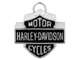 Ride Bell, Large Bar & Shield Motorcycle, Harley-Davidson, Silber