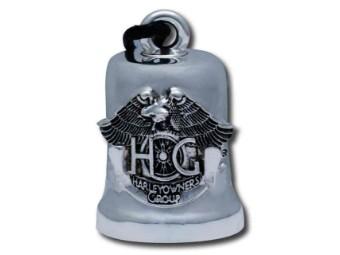 Ride Bell, HOG Emblem, Harley-Davidson, Silber