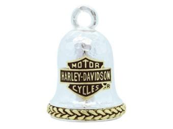 Ride Bell, Bar & Shield, Harley-Davidson, Silber/Bronze