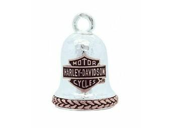 Ride Bell, Bar & Shield, Harley-Davidson, Silber/Rose
