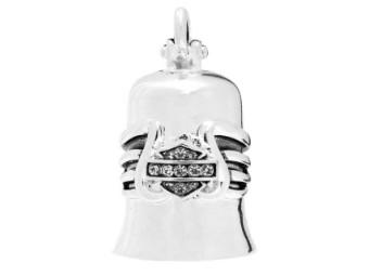 Ride Bell, Bling Winged, Bar & Shield, Harley-Davidson, Silber