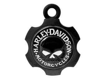 Ride Bell, Axel Shape, Willie G. Skull, Harley-Davidson, Schwarz