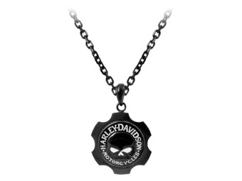 Halskette, Axel Willie G. Totenkopf, Harley-Davidson, Schwarz