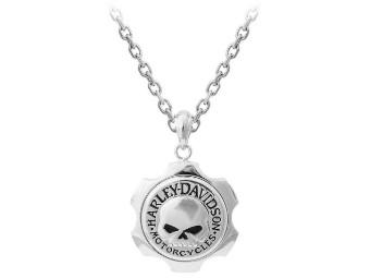 Halskette, Axel Skull, Harley-Davidson, Silber