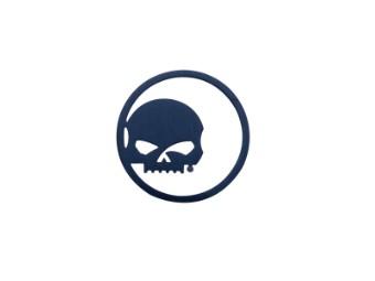 Schmuckplatte, Willie G. Skull, Edelstahl, Harley-Davidson, Groß