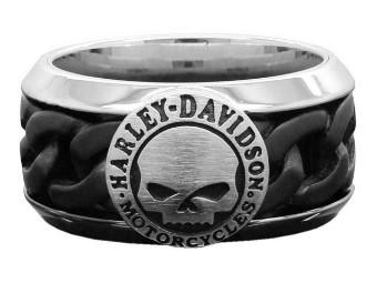 Ring, Willie G. Skull, Harley-Davidson, Schwarz