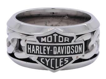 Ring, Bar & Shield, Harley-Davidson, Edelstahl
