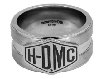 Ring, HDMC, Harley-Davidson, Silber