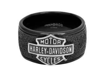 Ring, Bar & Shield, Off-Road, Wide, Harley-Davidson, Schwarz/Edelstahl