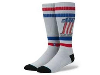 Socken, #1, Harley-Davidson, Grau