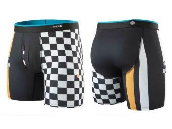 Boxershort, Checks, Harley-Davidson, Schwarz