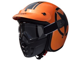 Helm, Vintage Mask, Jethelme Star, Premier, Metallic Orange