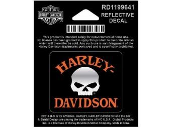 Aufkleber, Willie G. Skull, Reflektiv, Harley-Davidson