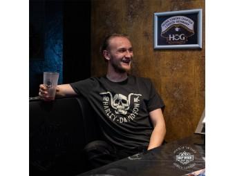 T-Shirt, Harley-Davidson, Motiv Bar Bite, Dunkelgrün