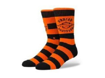 Socken, Harley Sprint, Harley-Davidson, Orange/Schwarz