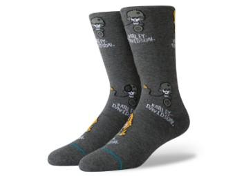 Socken, Till I Die, Harley-Davidson, Grau