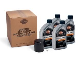 4 Qt. Harley-Davidson ® Original SYN Blend Motorrad-Ölwechsel-Kit