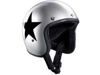 Bandit Helm STAR JET silber
