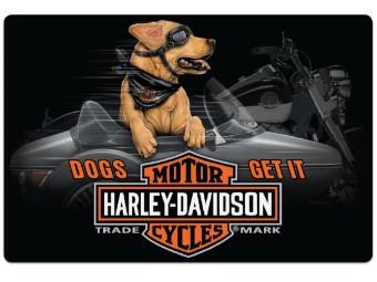 Blechschild HD® Side Dog