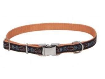 Harley-Davidson® Designer Ribbon Adjustable Hundehalsband