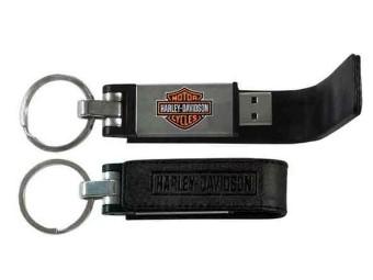 Bar & Shield Metall USB-Stick mit Ledertasche