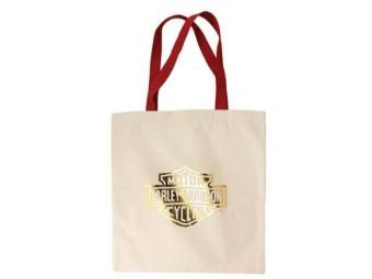 Gold Bar & Shield Baumwolltasche