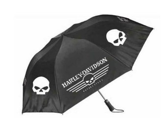 Linear Skull Einziehbarer Regenschirm